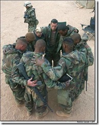 Soldiers at prayer