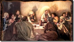 Jesus celebrates Passover with Disciples
