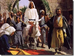 Jesus enters Jerusalem for Passover