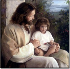 Jesus with child on his lap