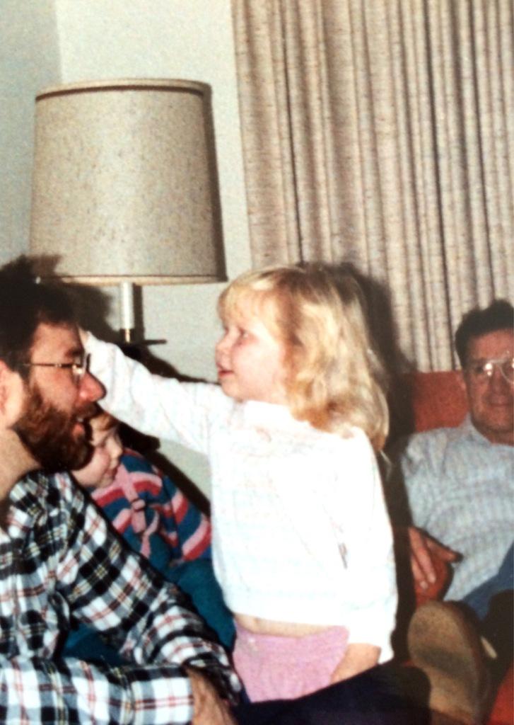 Daisy, Uncle Kevin, Grandpa circa 1980's