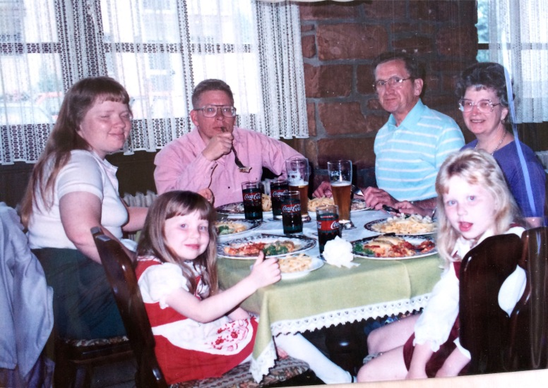 Dinner out in Germany circa 1987