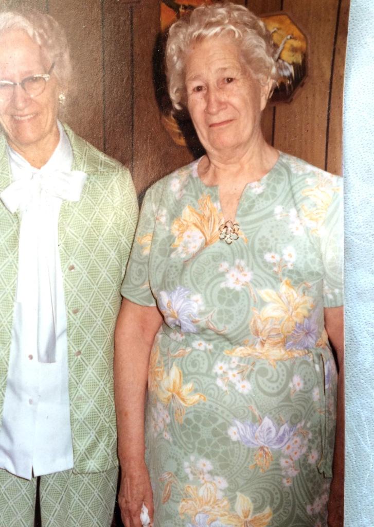 grandma Alice and her sister circa 1970's