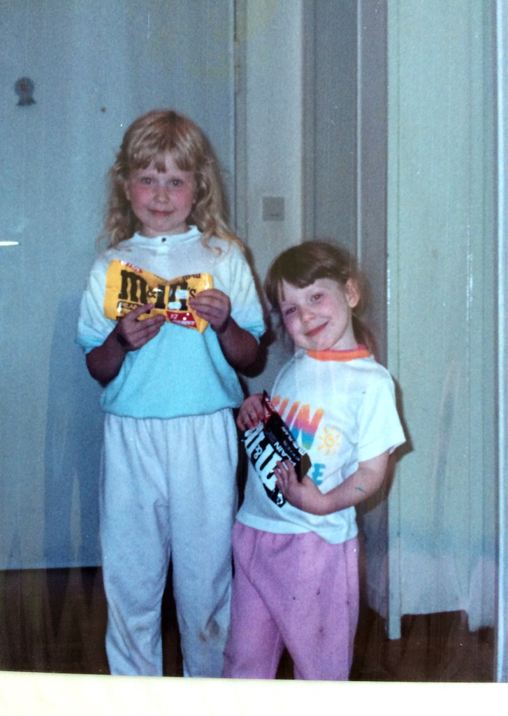 Kids with candy circa late 80's