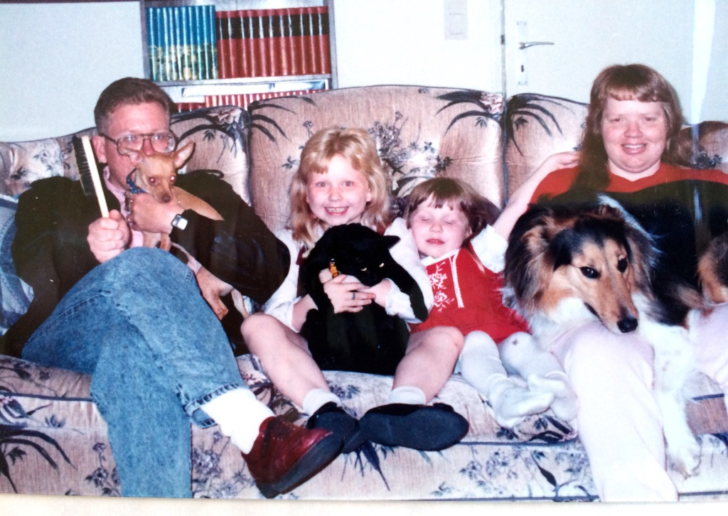 me and Family in Germany circa 1987