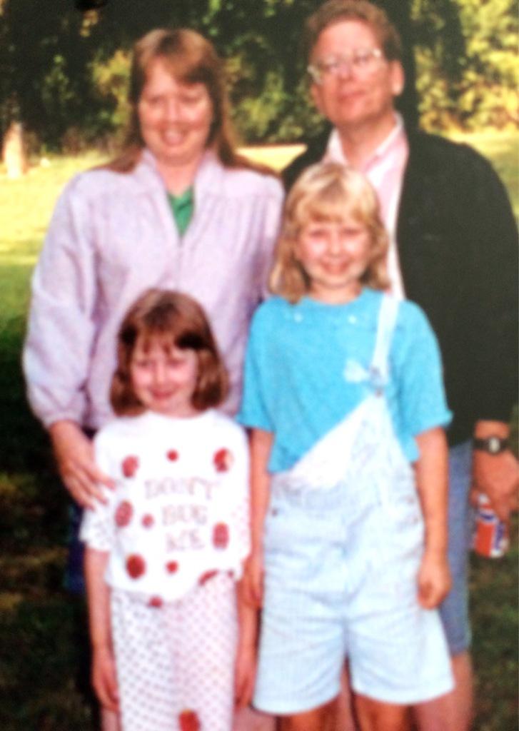 me, Doreen and kids circa late 80's