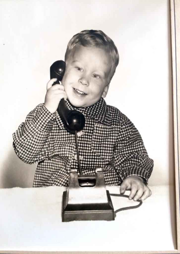 me on phone circa 1960