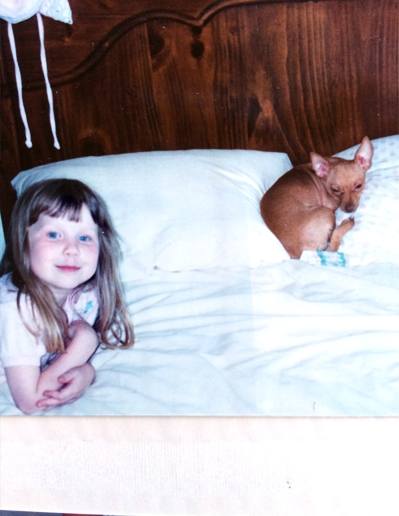 Pig and puppy circa 1987